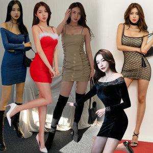 유유존-나시/탑원피스/클럽의상/섹시홀복/롱나시/미니