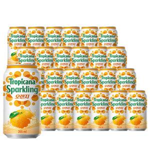 [롯데칠성] 트로피카나 스파클링 오렌지 355ml 6번들 3입 (18캔)