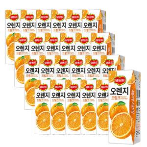 [롯데칠성] 델몬트 오렌지 드링크 190ml 24팩 2박스 (총 48팩)
