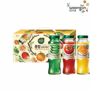 (현대Hmall)웅진식품 자연은 종합선물세트 180  12병 / 알로에/토마토/감귤