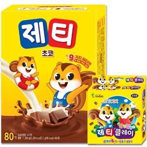 [제티] 9가지 비타민 제티 80T/코코아/미떼/핫초코/ 초코우유~
