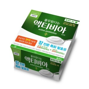 다논 액티비아(컵/플레인) 80g x 4입