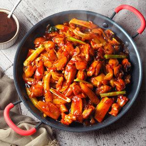 [참도깨비] 춘천 식 숯불 닭갈비 750g x 2봉 +우동사리1봉