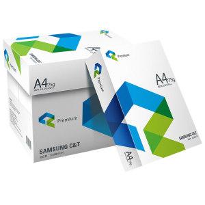 삼성물산 A4 복사용지 A4용지 75g 2500매 1박스