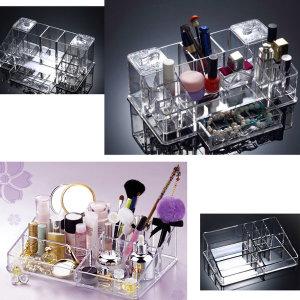 국내생산 투명 아크릴 화장품정리함 화장대정리함