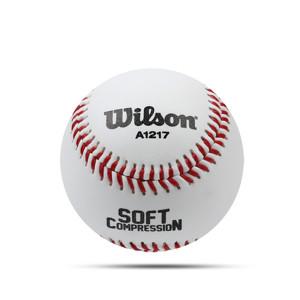 [윌슨] 윌슨 안전야구공 A1217 연식용 야구공 캐치볼 연식구