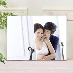 아크릴액자+사진인화 6x8(15x20cm)결혼웨딩 아기가족