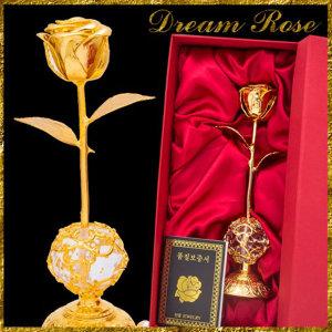 국산재품 향기나는24K 금장미 금카네이션 감동의선물