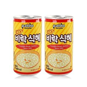 [팔도] 무배 밥알없는 비락 식혜 2박스 (175mlx60캔) 캔음료