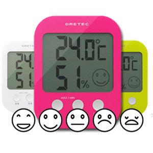 [드레텍] 온습도계  5단계 얼굴표정 O-230