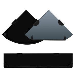 [그린유통] 욕실선반 겸용 수건걸이 알루미늄 강화유리 코너선반