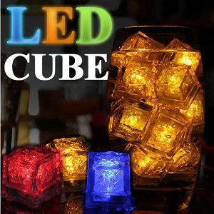 LED 아이스큐브/플로팅캔들/티/라이트/워터/이벤트/물
