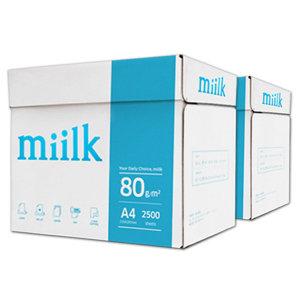 [밀크] 밀크 A4용지 80g 2박스(5000매) A4 복사용지 복사지