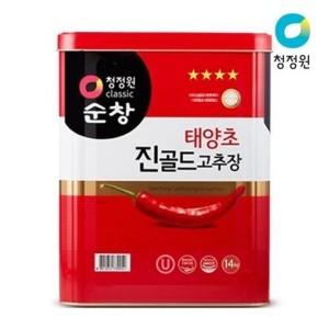 (대상) 청정원 태양초 진골드고추장14kg