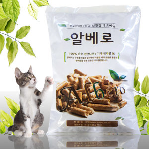 알베로 천연 나무 친환경 고양이모래 20kg /우드펠렛