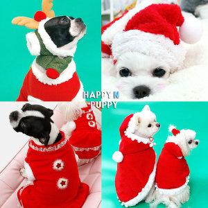 크리스마스강아지옷 강아지겨울옷 강아지산타복