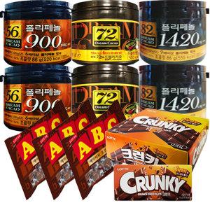롯데)드림카카오56%/72%/82%/크런키/ABC초콜릿/키세스