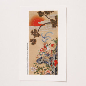 [GAN23396] 샵오브코리아  민화 엽서(小) - 봉황도 / 전통공예품 외국인선물