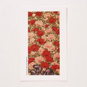 [GAN23393] 샵오브코리아  민화 엽서(小) - 모란도1 / 전통공예품 외국인선물