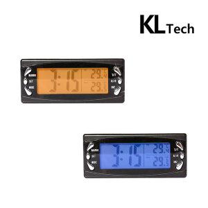 LCD차량용온도 시계 KLT-T23 자동차/투톤백라이트