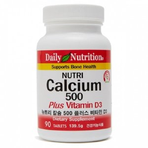 [Daily Nutrition] 뉴트리 칼슘 500 비타민D / 마그네슘 칼슘제 영양제