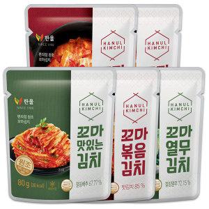 한울 80gx20 꼬마 맛 볶음 배추 여행용 소포장김치