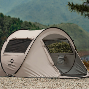 [로티캠프] 원터치 팝업 텐트 3인용 캠핑 낚시 그늘막 자동 한강