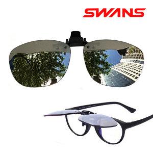 일본 SWANS 클립온 편광 클립선글라스 고글 방탄