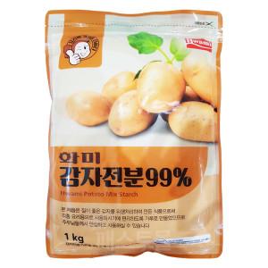 [화미] 화미 감자전분 99% 1kg (감자가루)