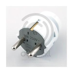 [동양전자] DYPX-GSN 꽂음 접지플러그 일자형-AC 250V 16A 콘센트