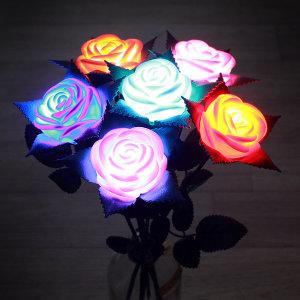 [베스트100스토어] LED 장미 꽃다발6종 set 장미꽃 티라이트 무드등 조명