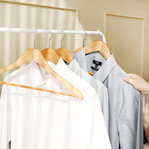 [홈앤하우스] (현대Hmall)홈앤하우스 프리미엄 원목옷걸이 10P