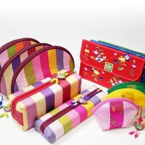 [우진아트 전통공예품] 민속지갑 필통파우치 지퍼동전 카드통장 화장품가방