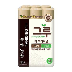 [그루] 더 건강한 그루 화장지 30M/30롤/3겹/100%쳔연펄프