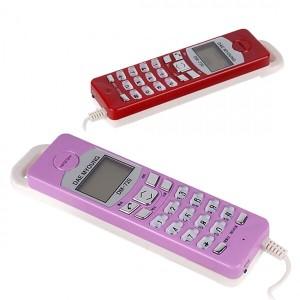벽걸이 유선 전화기 DM-720 발신자 집/사무용 레드