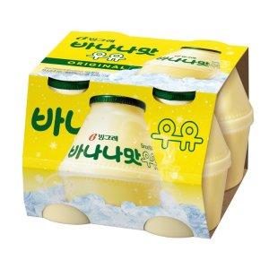 [바나나맛우유] 빙그레 바나나맛우유 240MLx4
