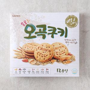 [크라운] 크라운 옹골진오곡쿠키2입 384G