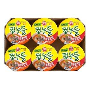 오뚜기 컵누들매콤한맛 37.8Gx6입
