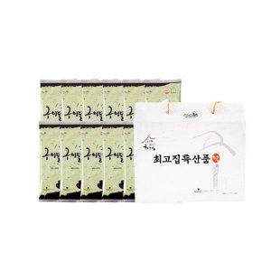 최고집 조미(들기름)구이돌김 반절 7매 12봉(box)