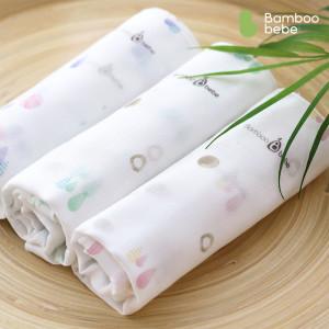 [밤부베베] 순한대나무 솜사탕 거즈손수건 디자인 6장
