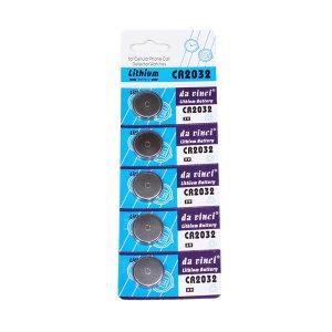 [레쎄전자] 다빈치 리튬전지 5알/ CR2032/버튼셀/단추 코인건전지