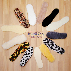 [SHENFEI] 100% 천연 양털 깔창 키높이 신발 운동화 구두 털깔창
