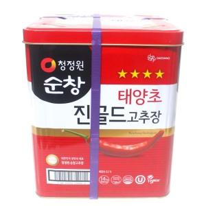 [순창] 청정원 순창 태양초 진골드 고추장 14kg