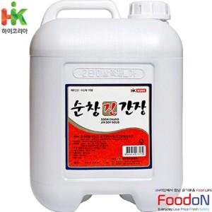 [하이코리아] 순창 진간장 12L 대용량 말통 식자재 업소 순창간장