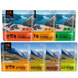 핫앤쿡 발열 전투식량 도시락 간편식 라면밥 건빵