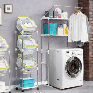 스페이스 세탁기선반/빨래바구니/베란다선반/세탁