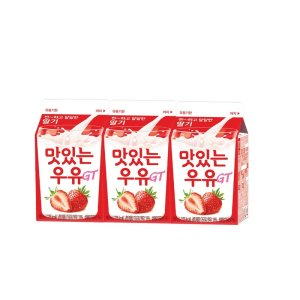 [남양] 남양 맛있는 딸기우유 180MLx3