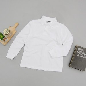 [모데쯔] 주니어용 기본카라 셔츠(흰색)