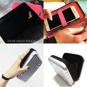 1 하드 캐리어 파우치 화장품 스마트폰 수납 장지갑