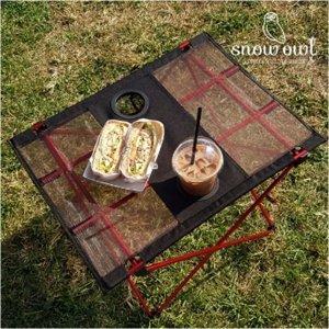 백패킹 초경량 롤 테이블 컵홀더 백패킹용 미니 소형